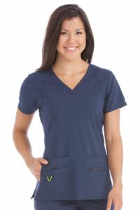 Top by Peaches Uniforms, Style: 8416-NAVY